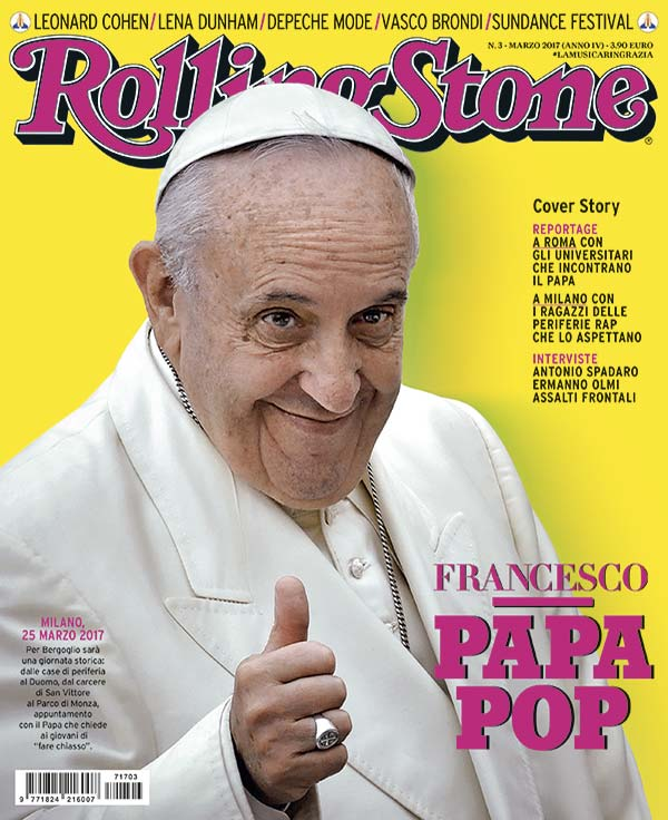 Rolling Stone cover Papa Francesco