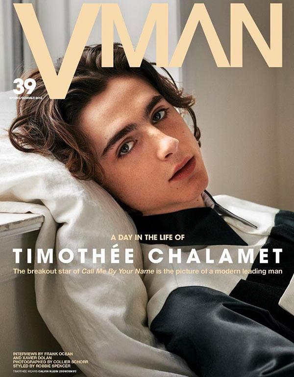 Timothee Chalamet cover V Man