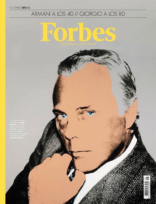 Forbes cover Armani