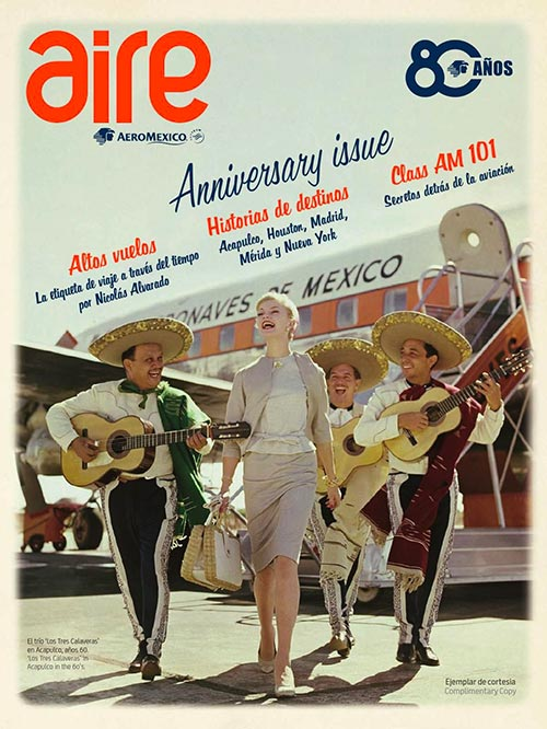 Aire Aeromexico onboard magazine cover 1