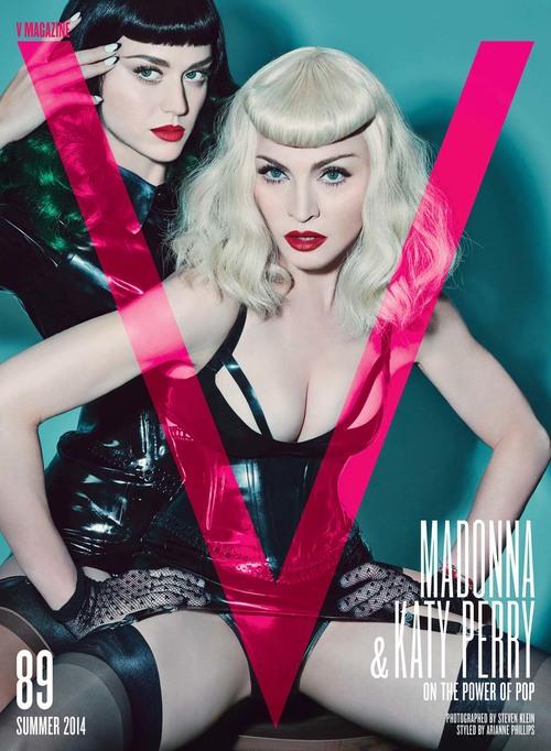 madonna katy perry v magazine cover