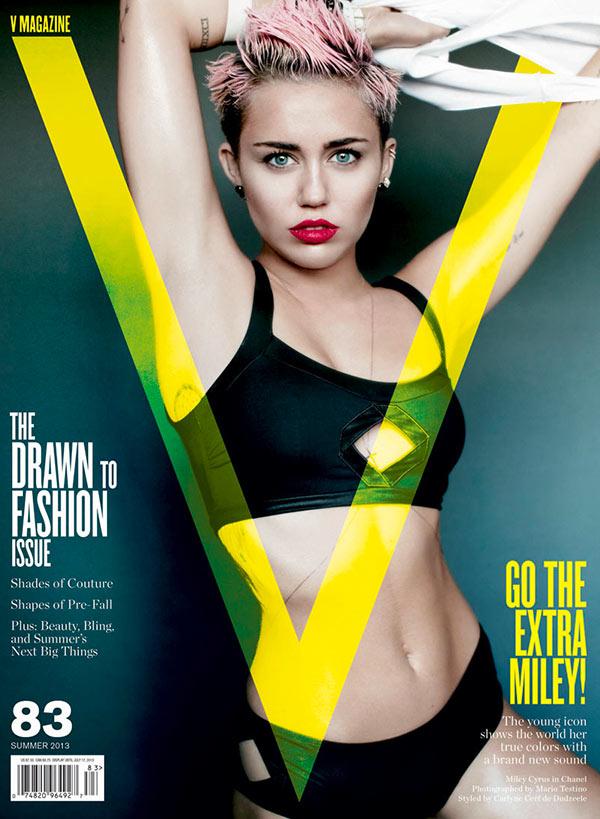 miley cyrus v magazine cover