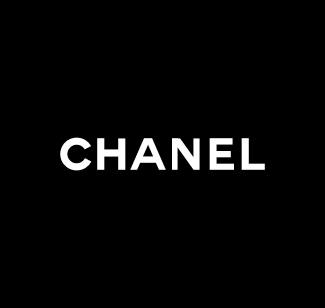 Chanel logo bianco