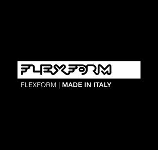 Flexform logo bianco
