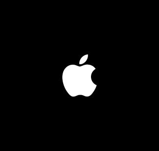 Apple logo bianco