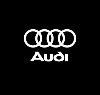 Audi logo bianco