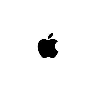 Apple logo nero